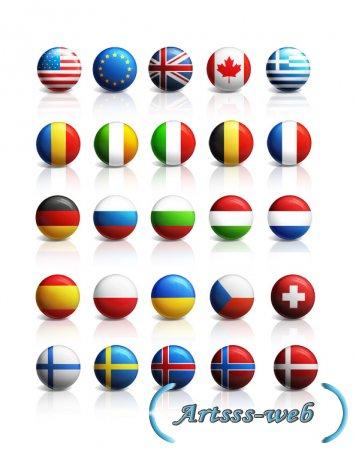 Psd иконки стран мира